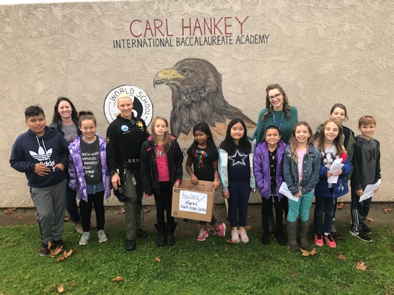 Hankey K-8's adopted deputy is a superstar on campus