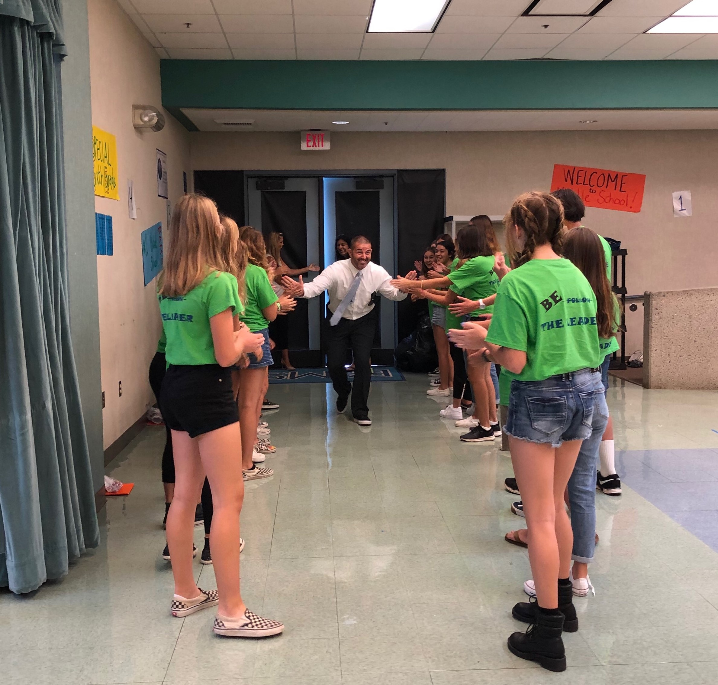 Bernice Ayer Middle School's WEB Leaders Welcome Incoming Sixth Grade Students