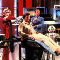scene from Buck Rogers BUCK ROGERS IN THE 25TH CENTURY, with Erin Gray, Gil Gerard, Tim O'Connor, Felix Silla