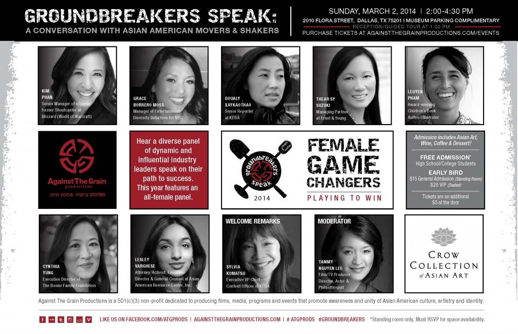 2014 Groundbreakers Speak Flyer