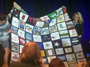 NAWIC blanket to outgoing Executive VP at AMEC Anaheim, CA