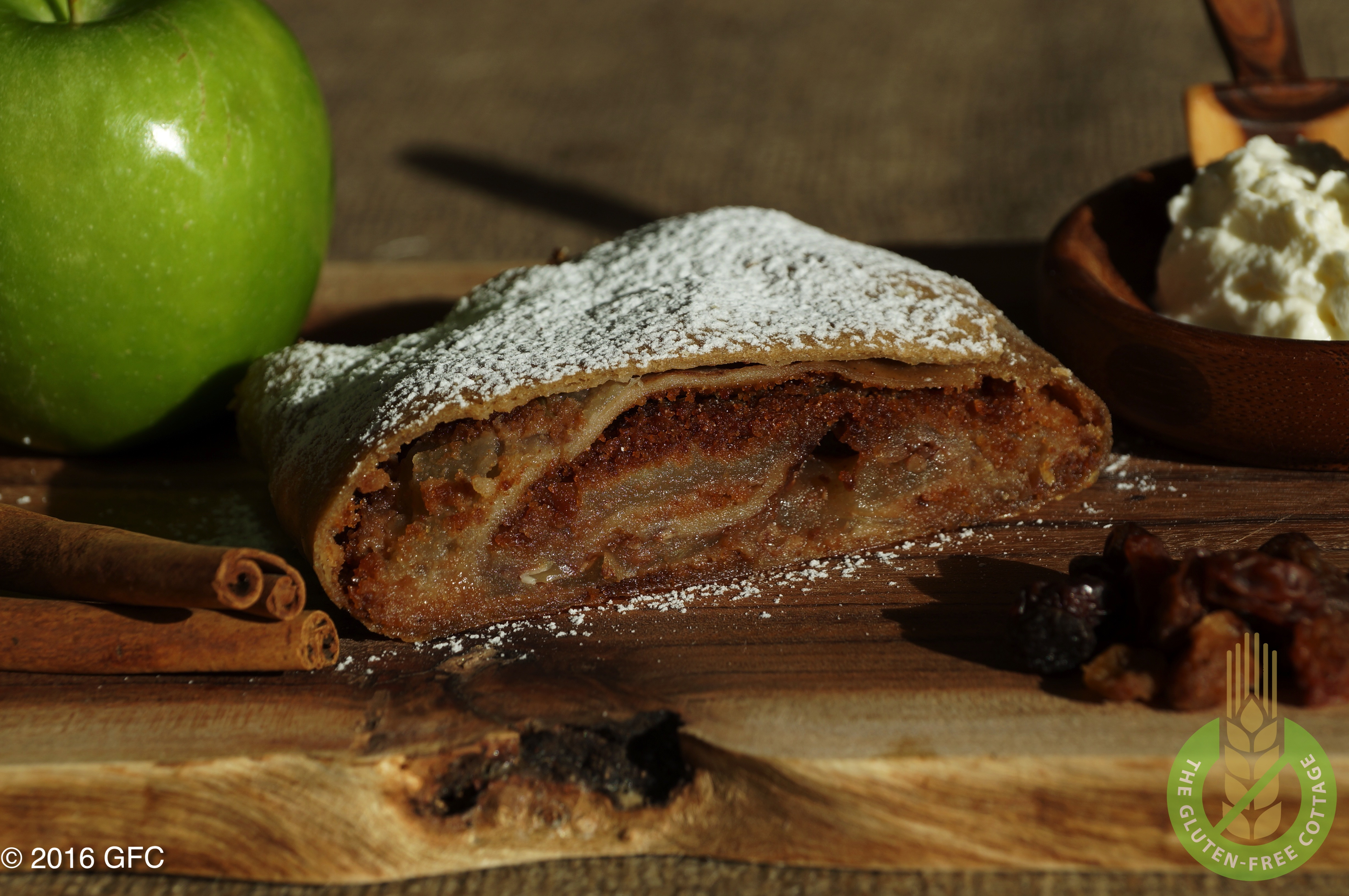 How to make mouthwatering gluten-free apple strudel.