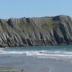 Limestone cliffs at Lydstep, South Pembrokeshire