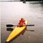 A young Matthew canoeing in Sandy Haven creek