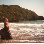 A young Joanne at West Dale Bay