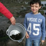 Daniel with his crab catch