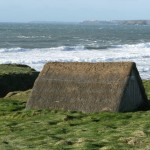 Laver seaweed drying shelder at Freshwater West