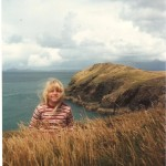 Young Joanne on the coast path near Martin's Haven
