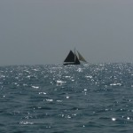 A photogenic old type sailing craft.