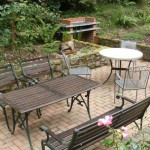 BBQ and dining area, Monks Garden, Anchorage