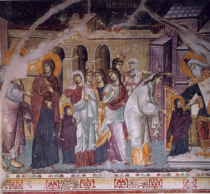 Sutra je Vavedenje Presvete Bogorodice