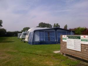 Caravan site at Peaks Top Farm.