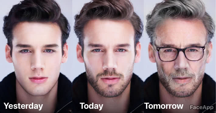 FaceApp ageing feature