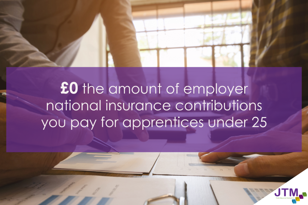 infographic to show employers don't pay national insurance contributions for apprentices