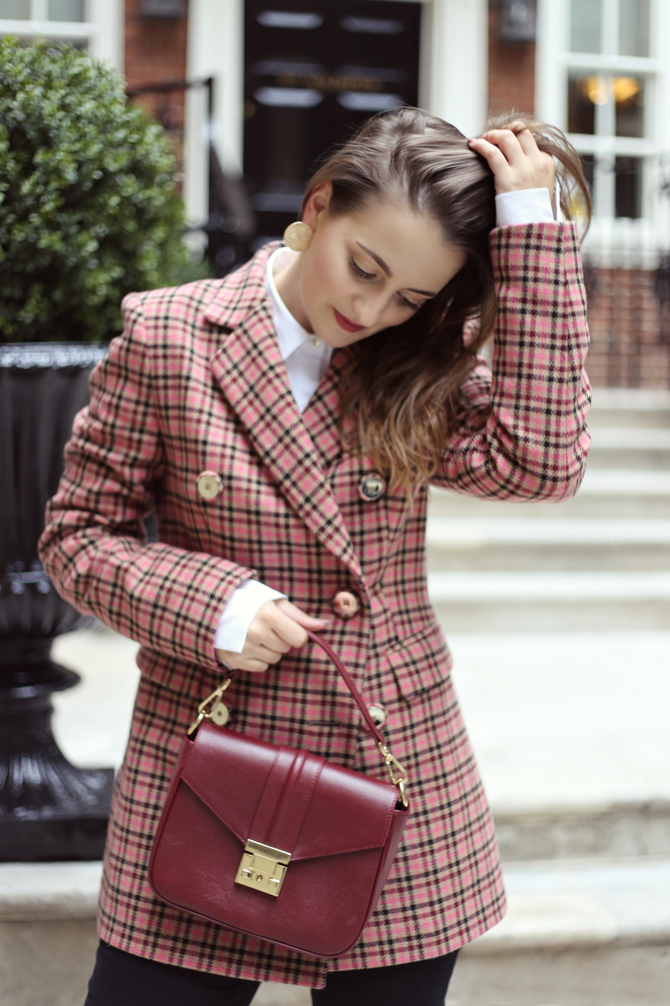 Checked blazer trend - how to style it - Launeden #1