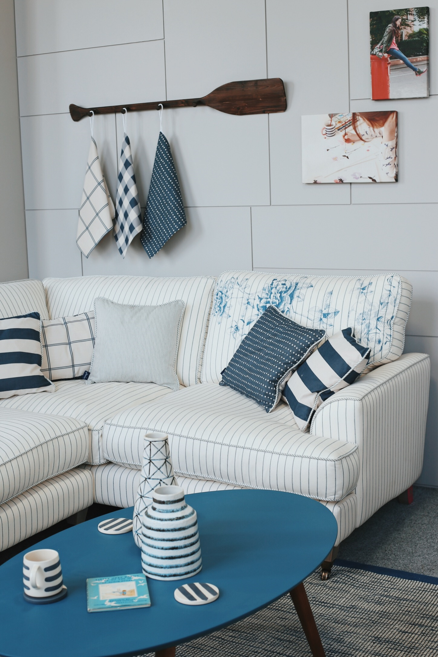 Joules sofa, available exclusively at DFS
