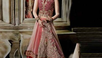 Net Lehenga Bridal Party Wear Dress
