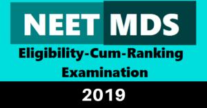 NEET MDS 2019