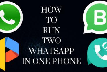 Run two whatsapp in one phone