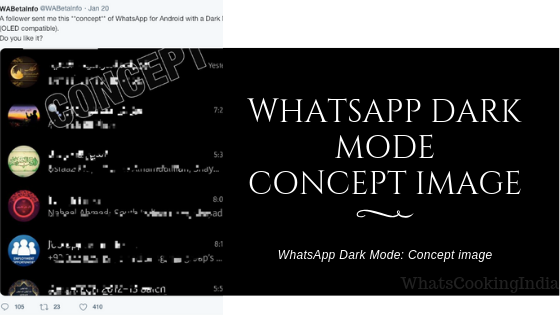 WhatsApp Dark Mode concept image