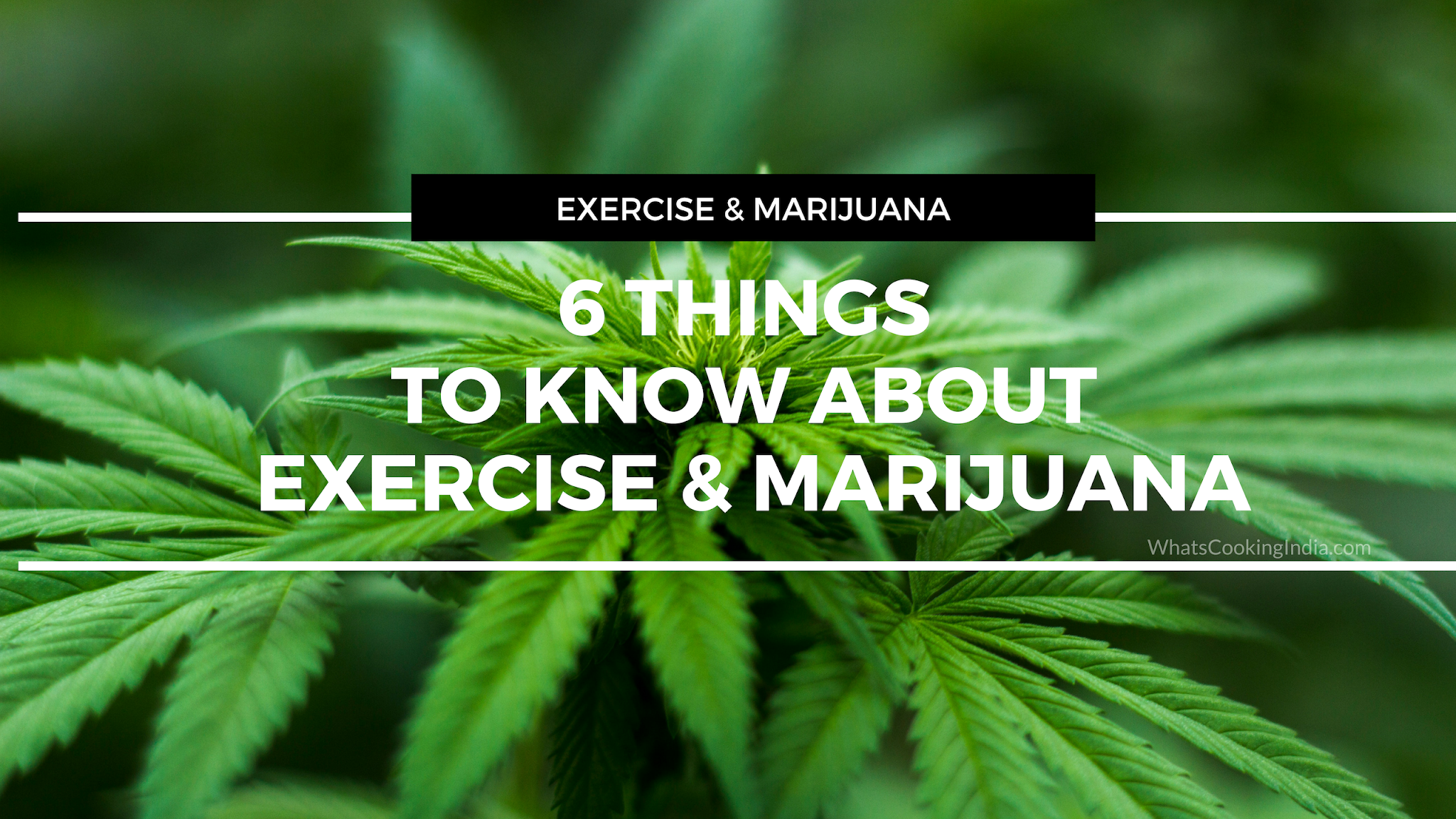 6 Things to know about Exercise and marijuana
