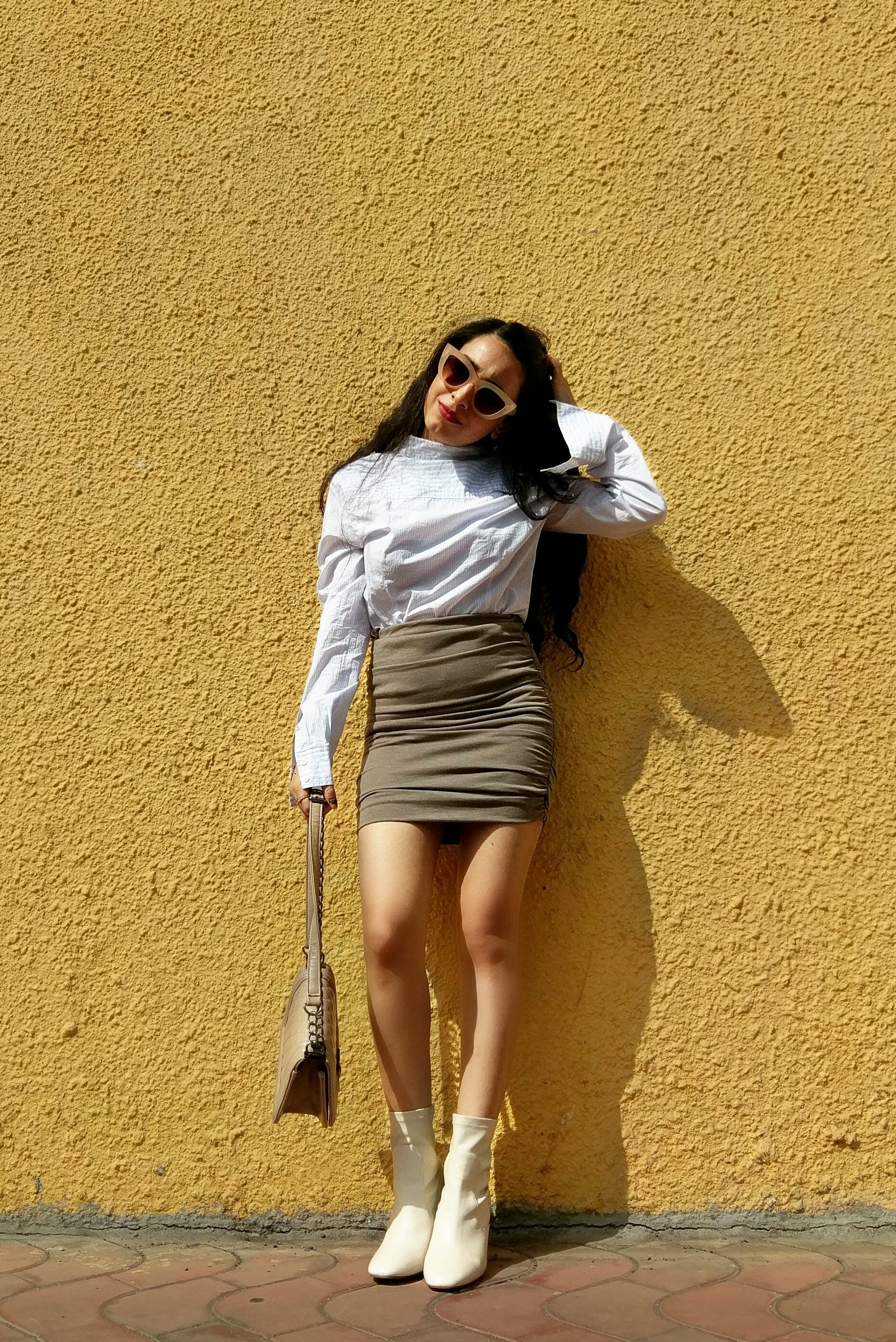 Neutrals with shirt style