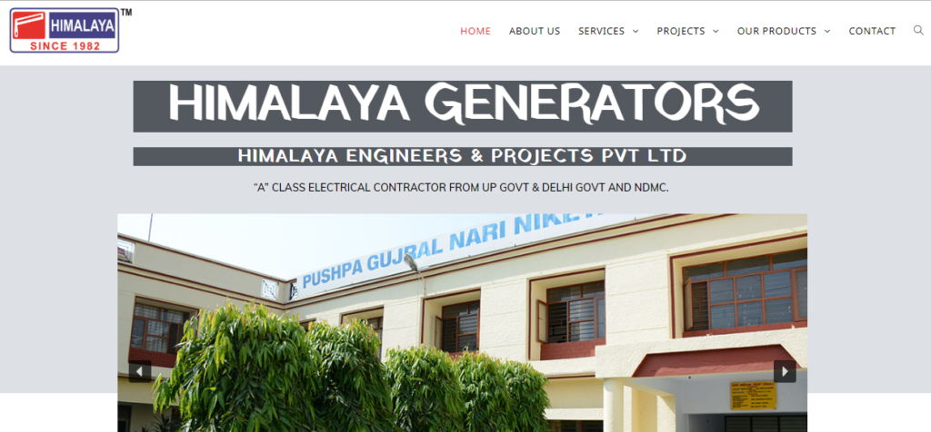 HEPInfotech-himalayagenerators-web-development