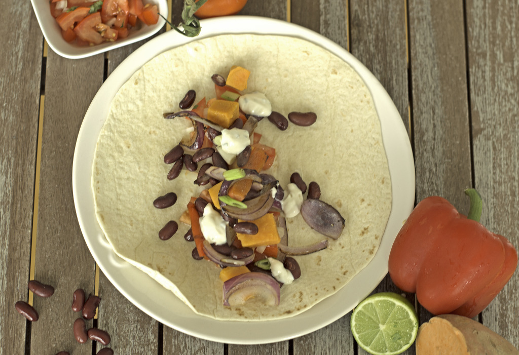Mexican Vegetarian Wrap2