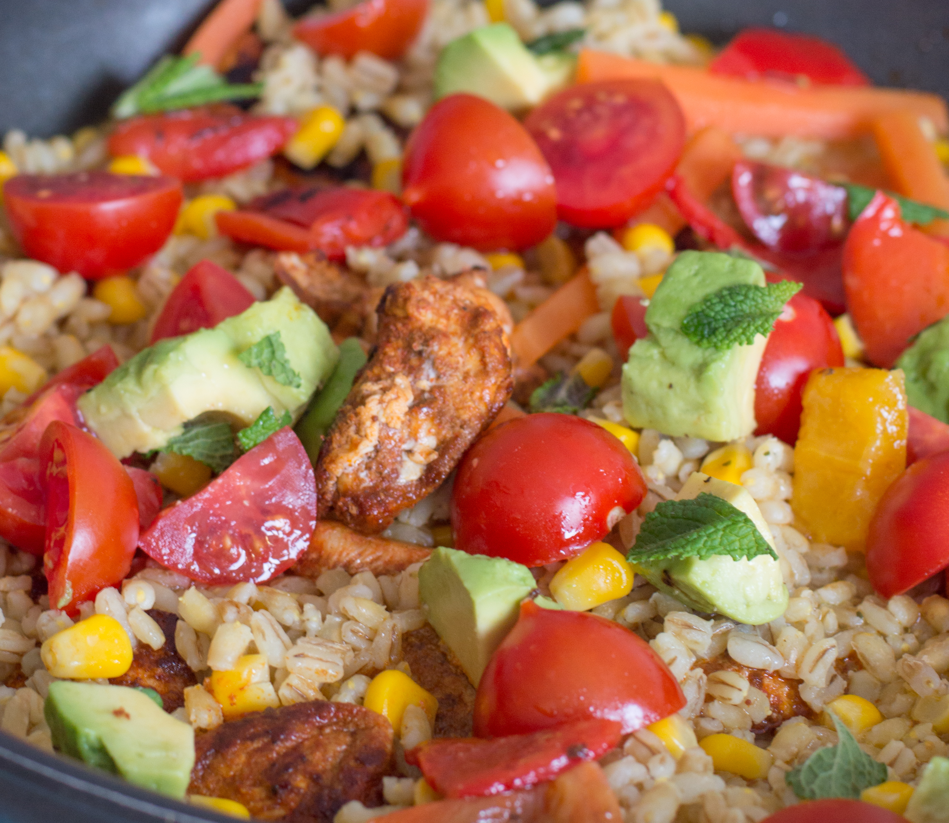 chicken, avocado & pearl barley one-pot (cropped)