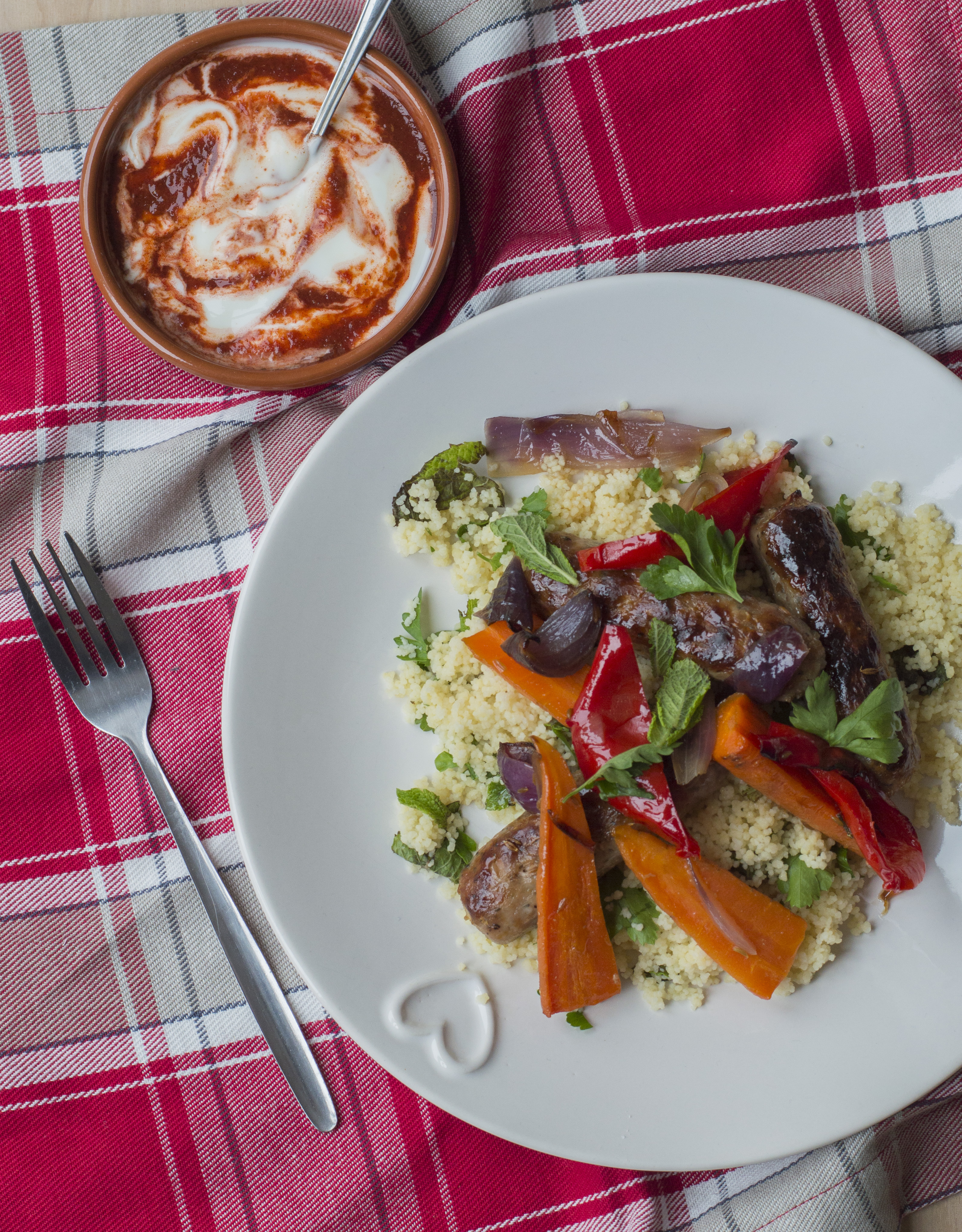 Spiced Sausages with Harissa Couscous2