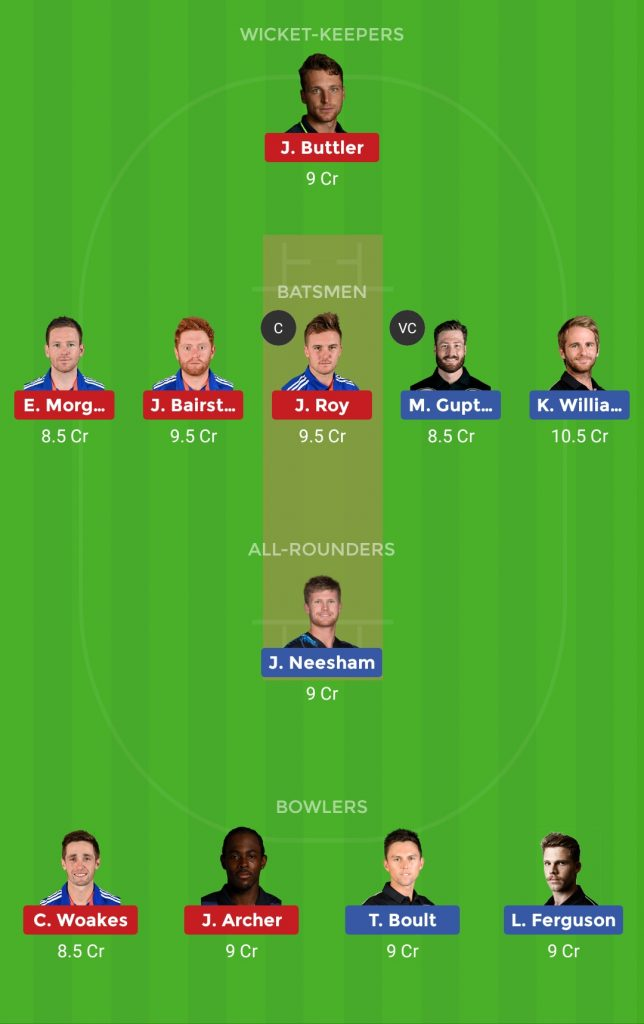 Grand League Team ENG vs NZ