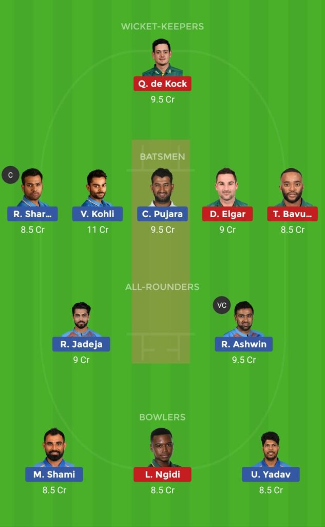 Grand League IND vs SA