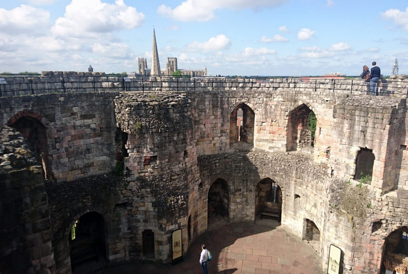 York Clifford's Tower inside