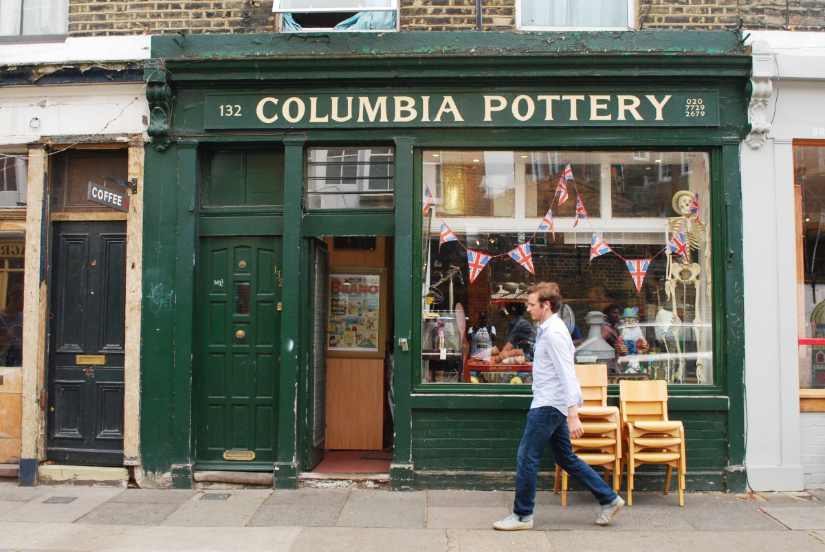 columbia road pottery shop