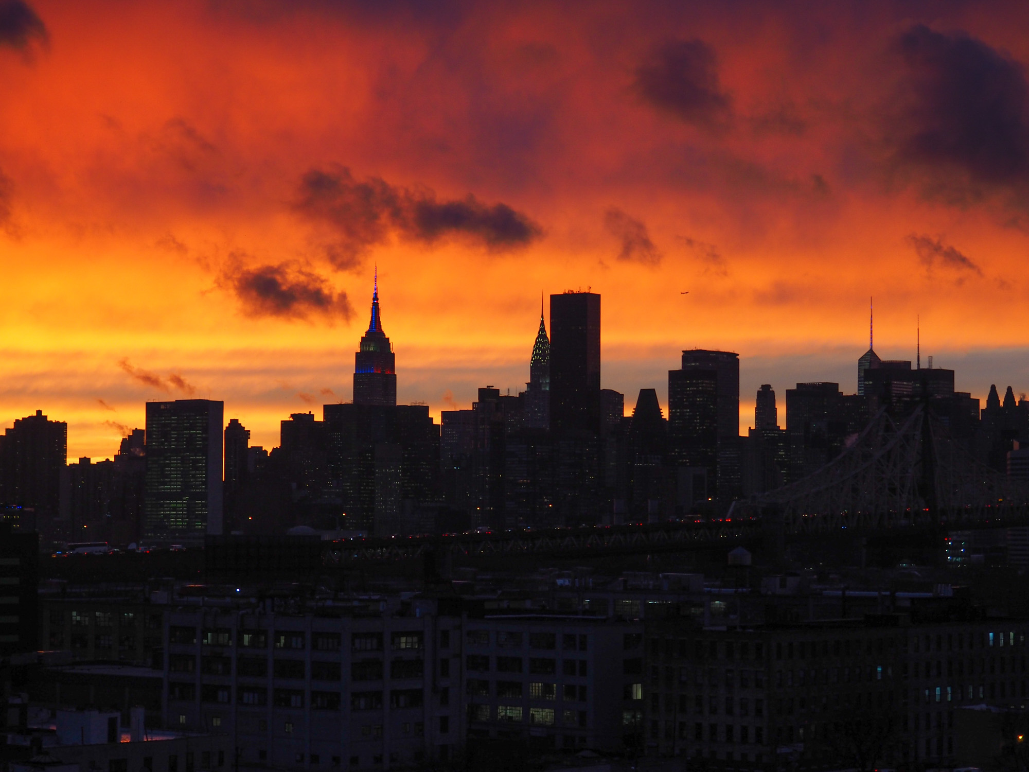 Manhattan NYC sunset