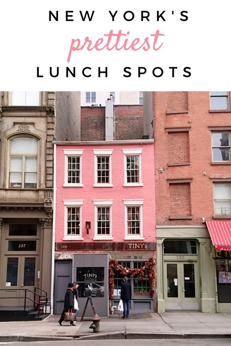 NYC's prettiest restaurants for lunch or brunch!