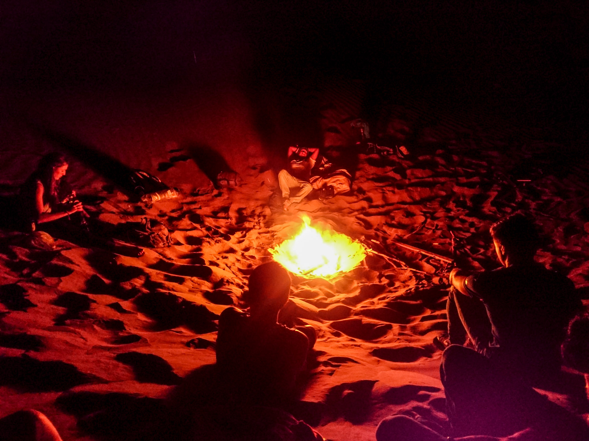 huacachina desert bonfire