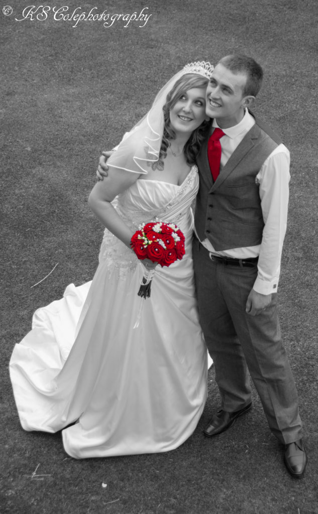 Bride and Groom colour pop