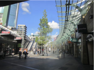 Top down planned urban environment from the strong planning period, Rotterdam shopping mall