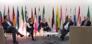 1Migration, Displacement, Identity series at Europe House, writer Seljia Avaha and translators - readers