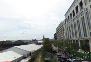 1 Kings Cross temporary theatres on building site, source: go