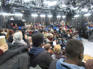 4 Audience of Henry IV at the temporary Kings Cross theatre.
