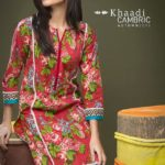 Poetic Roses Collection Cambric Kurtis By Khaadi 2015-16