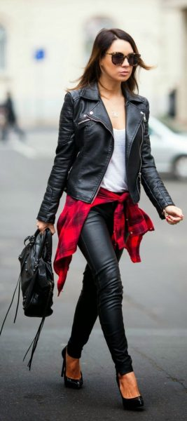 winter leather pants