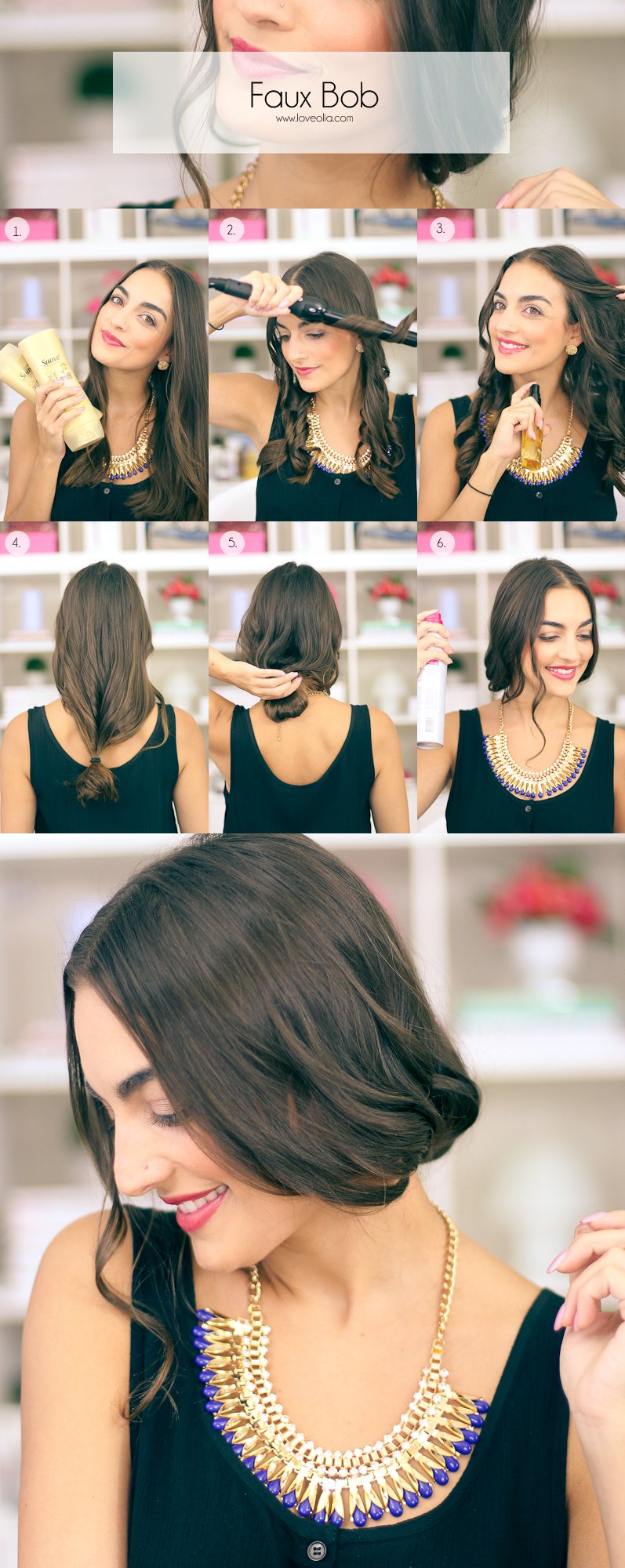 Step By Step Faux Bob Hair Tutorials For Holiday Season Styling