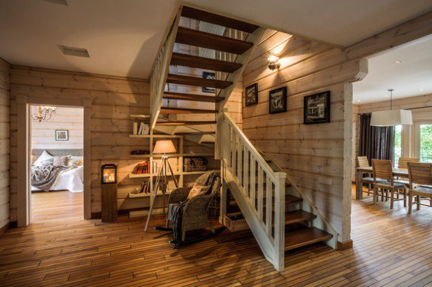 Wooden Rustic Stair Designs For Your Home Decor