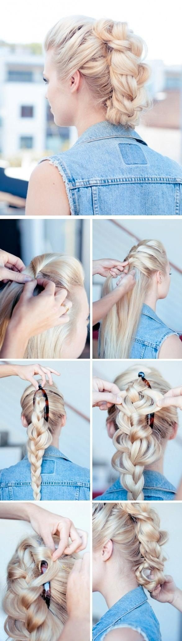 Pictutorials for faux hawk hairs