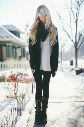Snow boots with jeans