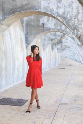 women red outfits