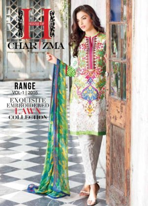 Exquisite Embroidered Lawn Collection By House Of Charizma 2016